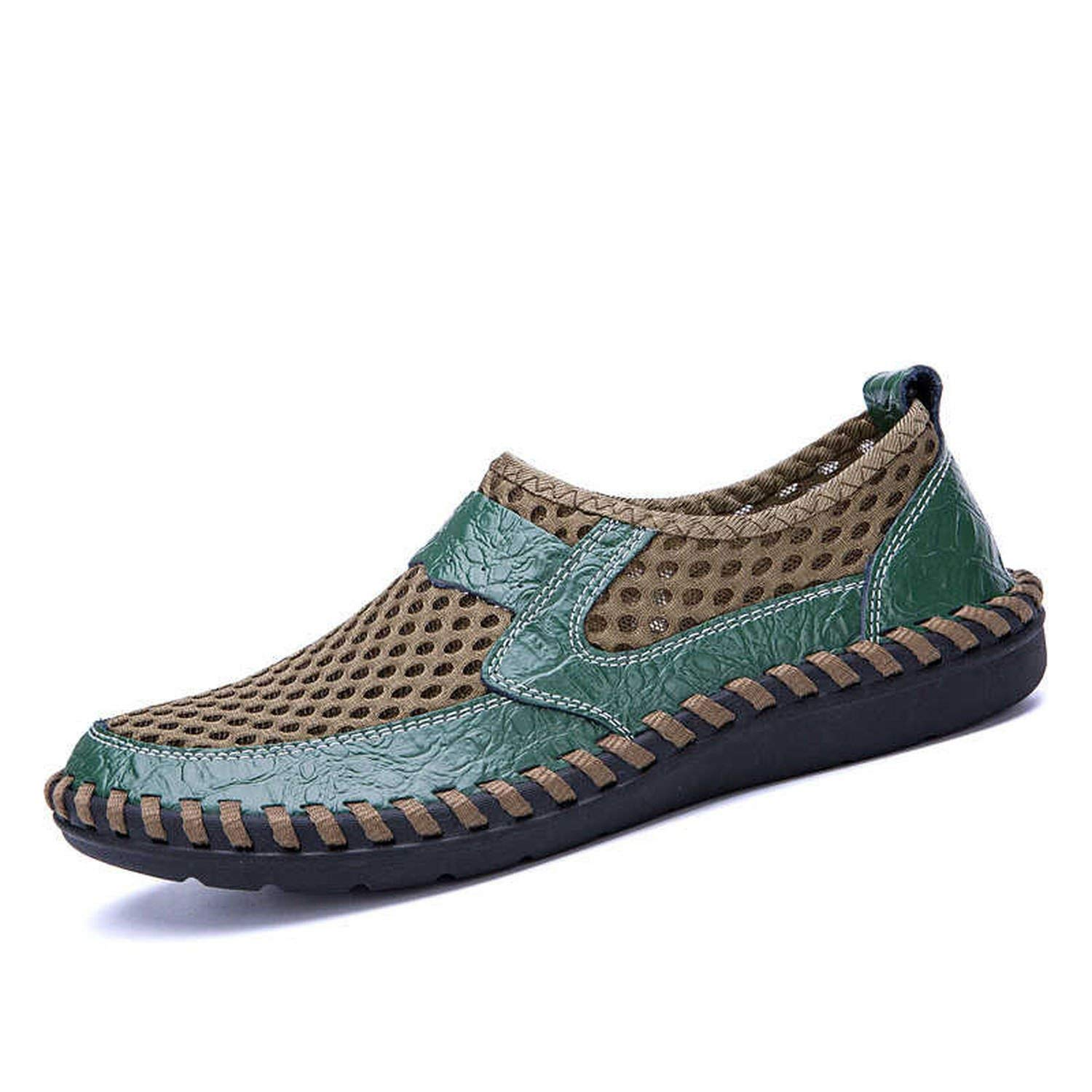 2052037e48e55 The small cat 2019 Summer Breathable Mesh Mens Casual Shoes Slip On ...