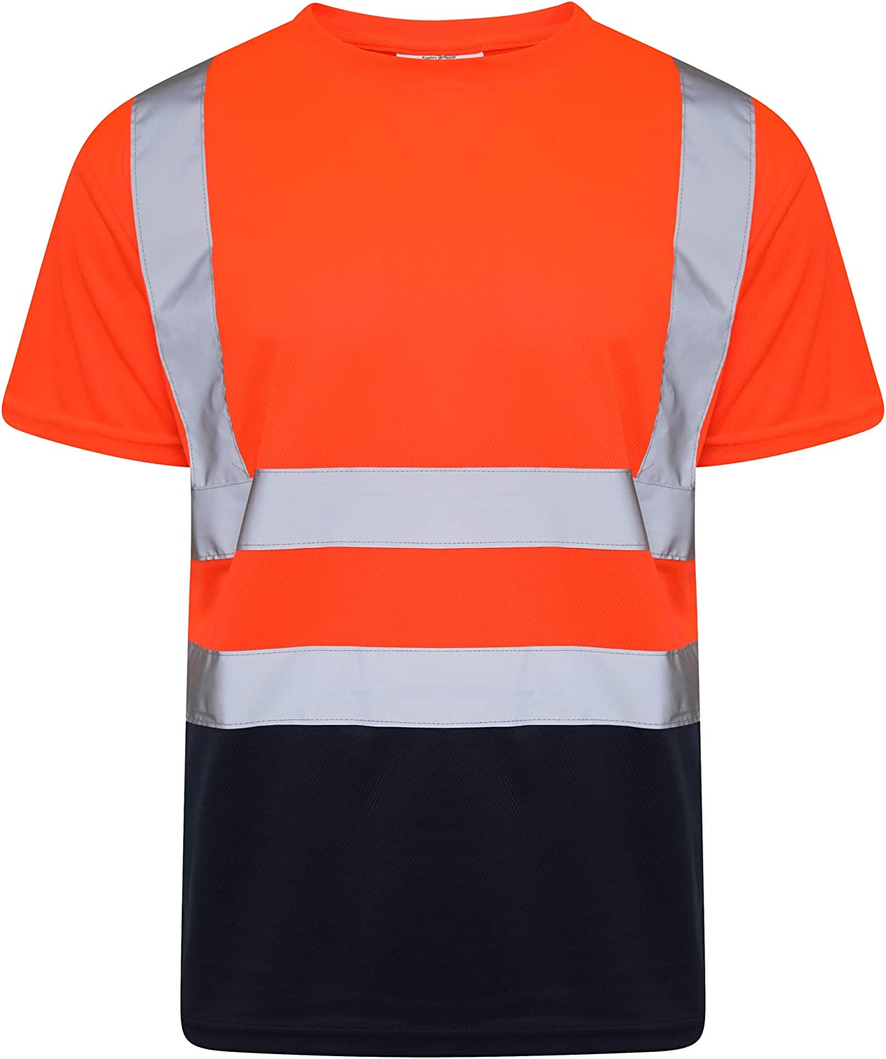 High Visibility Premium Material Inspire Me Hi Viz Short Sleeve T-Shirts Easy to Wash Breathable Soft and Comfortable