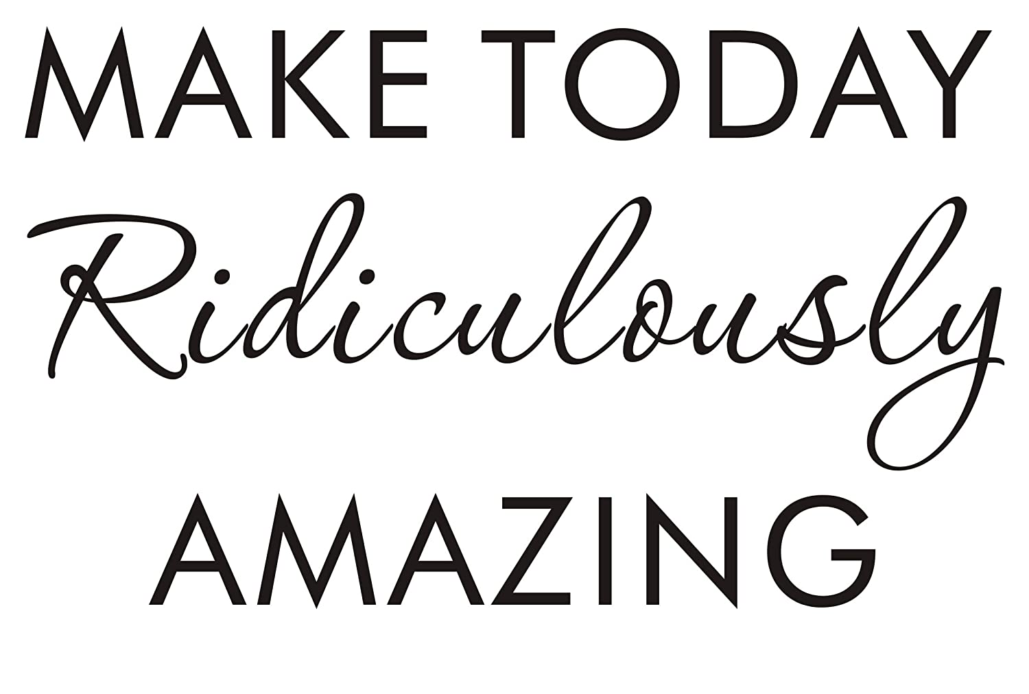 LUCKKYY Wall Stickers Vinyl Wall Decals Quotes Sayings Words Amazing