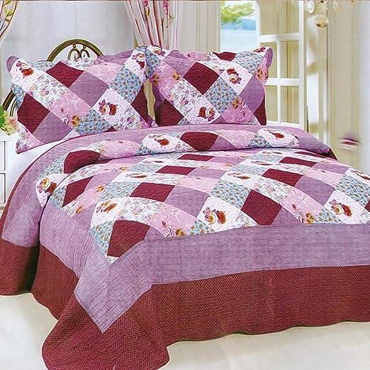 CDSITHH Juego de sábanas 100% algodón Acolchado Estampado campestre de 4 Juegos de Juegos de Cama @ Brown_180Cm_Bed: Amazon.es: Hogar
