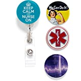 Tolt Supply Nurse Tinker Reel Retractable Badge Reel - with Alligator Clip and Extra-Long 36 inch Standard Duty Cord…