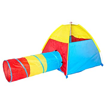 Dome and Tunnel Play Tent Set for Children - Kids Pop Up Play Tent with Tunnel  sc 1 st  Amazon.com : tent and tunnel combo - memphite.com