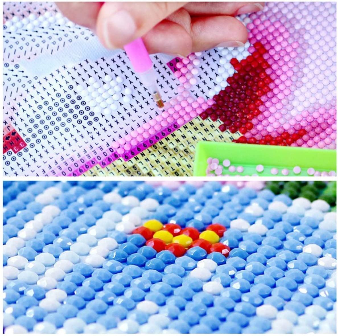 sancuanyi 2 Packung 5D Diamant Painting Full Drill Set 30 * 40 cm DIY Diamond Painting Schmetterling Kreuz Stich Diamond Dekoration f/ür Home Wall D/écor