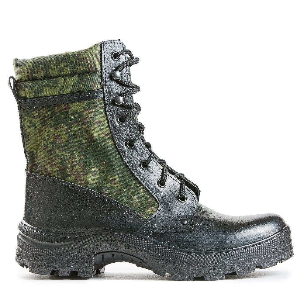 0cfe1779ef3 ElitSpecObuv Russian Army Leather Boots Demi-Season Digital Flora Camouflage