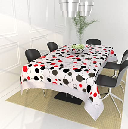 Generic Polyester Fabric Non Wooven Hand Block Printing Table Cover with Saanganeri Prints (Multicolour, Size 40_60)