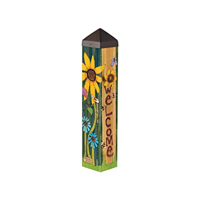 Studio M Peace Garden Art Pole Inspirational Meditation Outdoor Decorative Garden Post, Made in USA, 20 Inches Tall : Garden & Outdoor