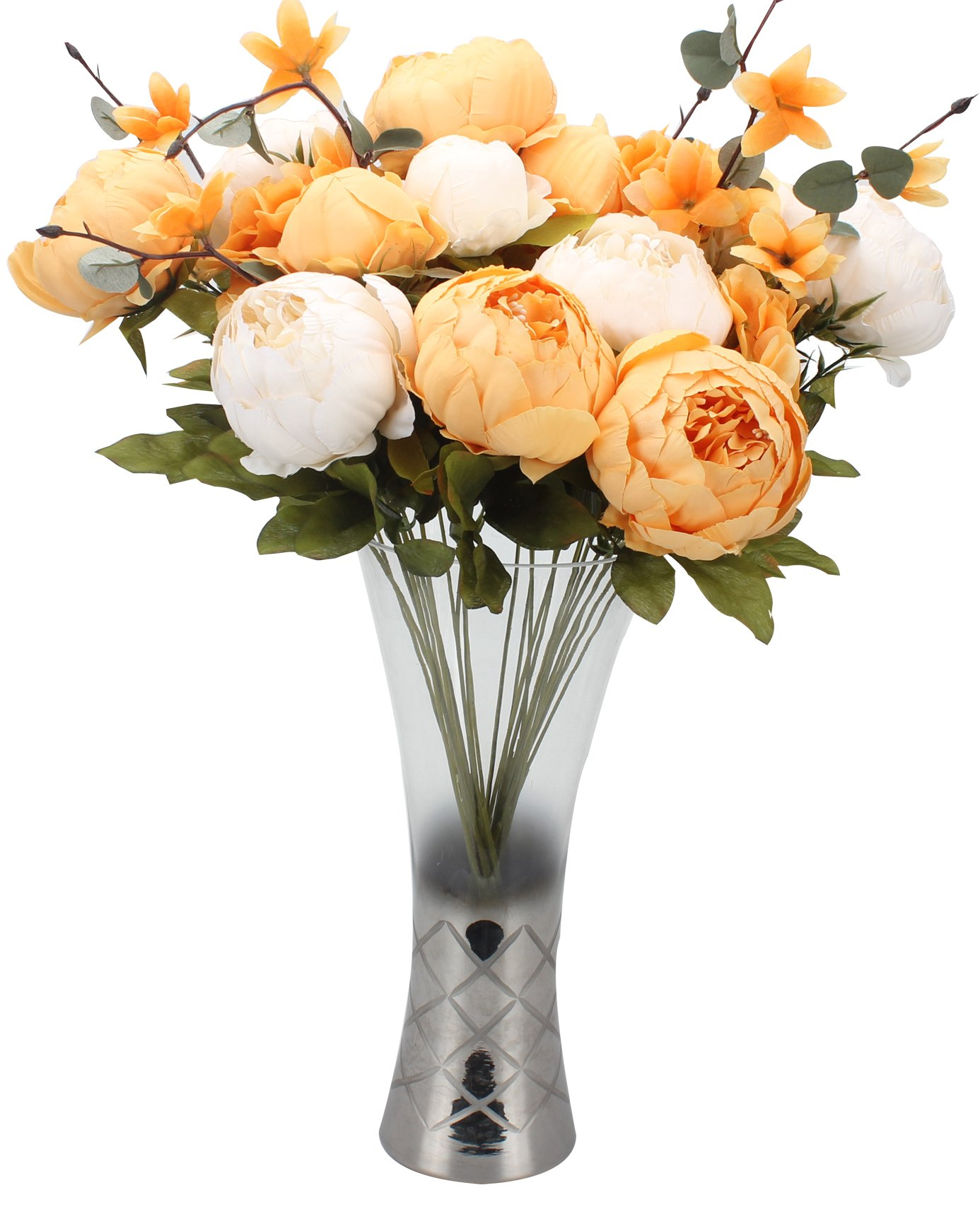 Duovlo-Artificial-Peony-Silk-Flowers-Fake-Flowers-Vintage-Wedding-Home-DecorationPack-of-1-New-Orange