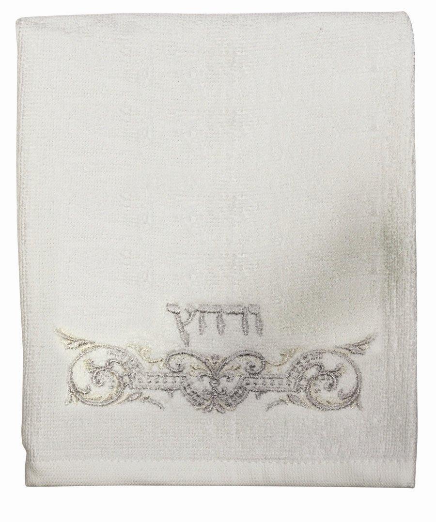 9.5-Inch Majestic Giftware SC-HBW6SET Safed Havdalah Candle with Spice Bag Blue-White