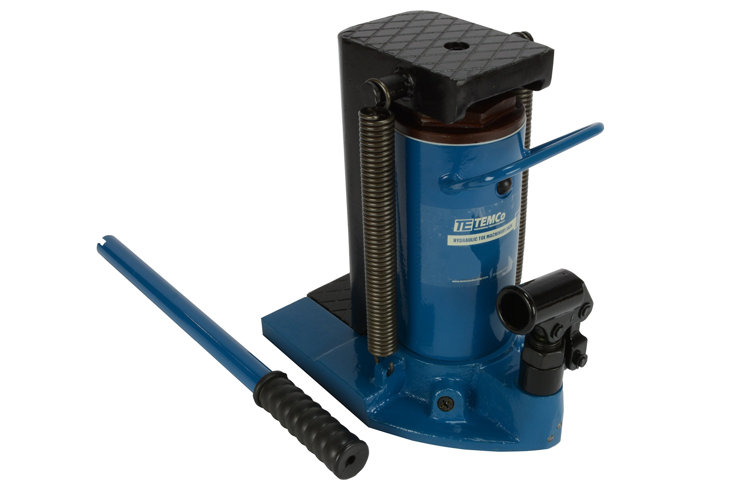 TEMCo TH0025 Hydraulic Machine Toe Jack Lift 2.5 / 5 TON Track 5 YEAR Warranty by Temco