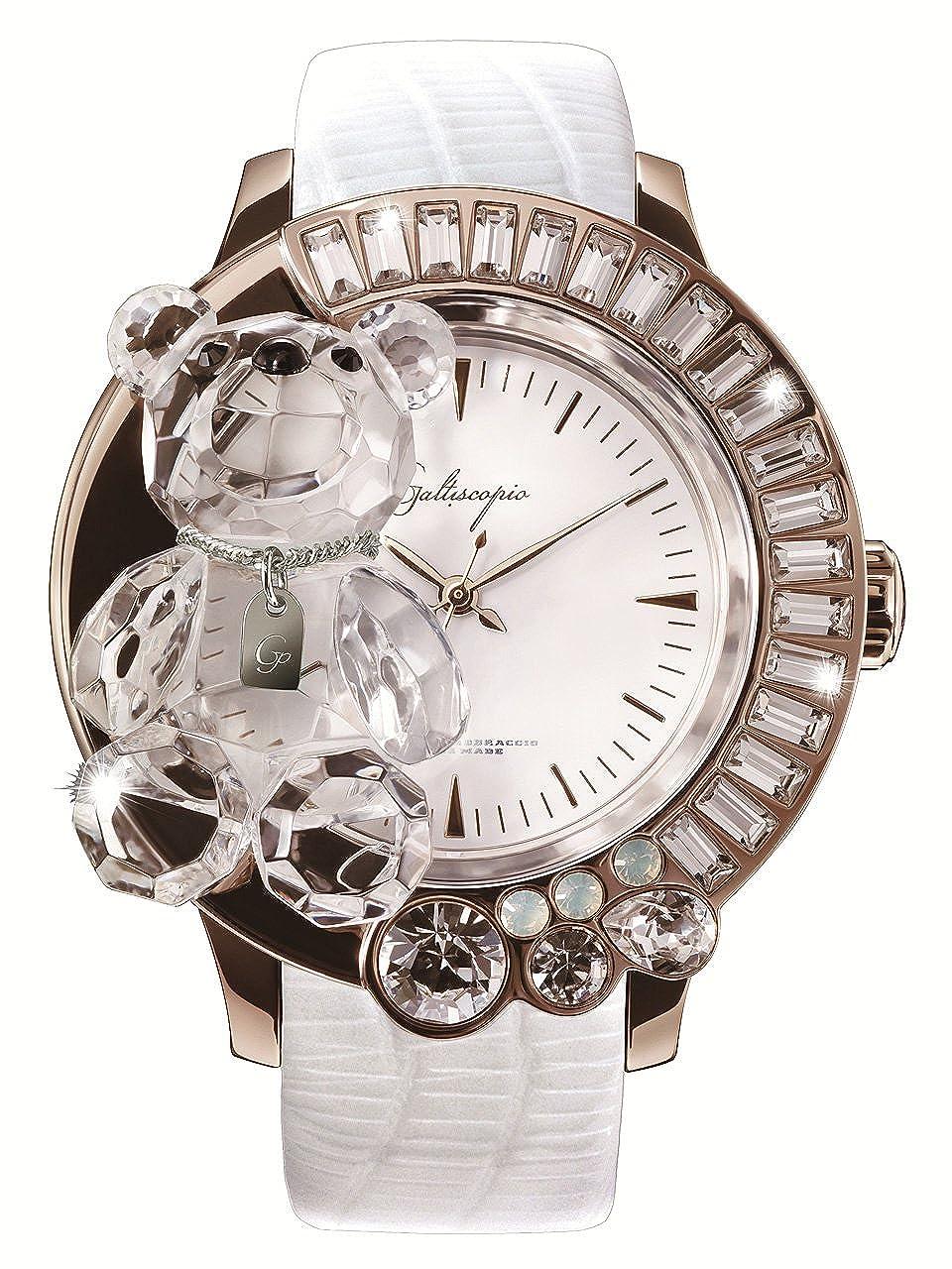 [ガルティスコピオ] Galtiscopio 腕時計 DABRGS001WLS 熊15 白/ローズゴールド スワロフスキー クリスタル キラキラ レディース 日本正規総代理店 [正規輸入品] [時計] B00FC0EEXM