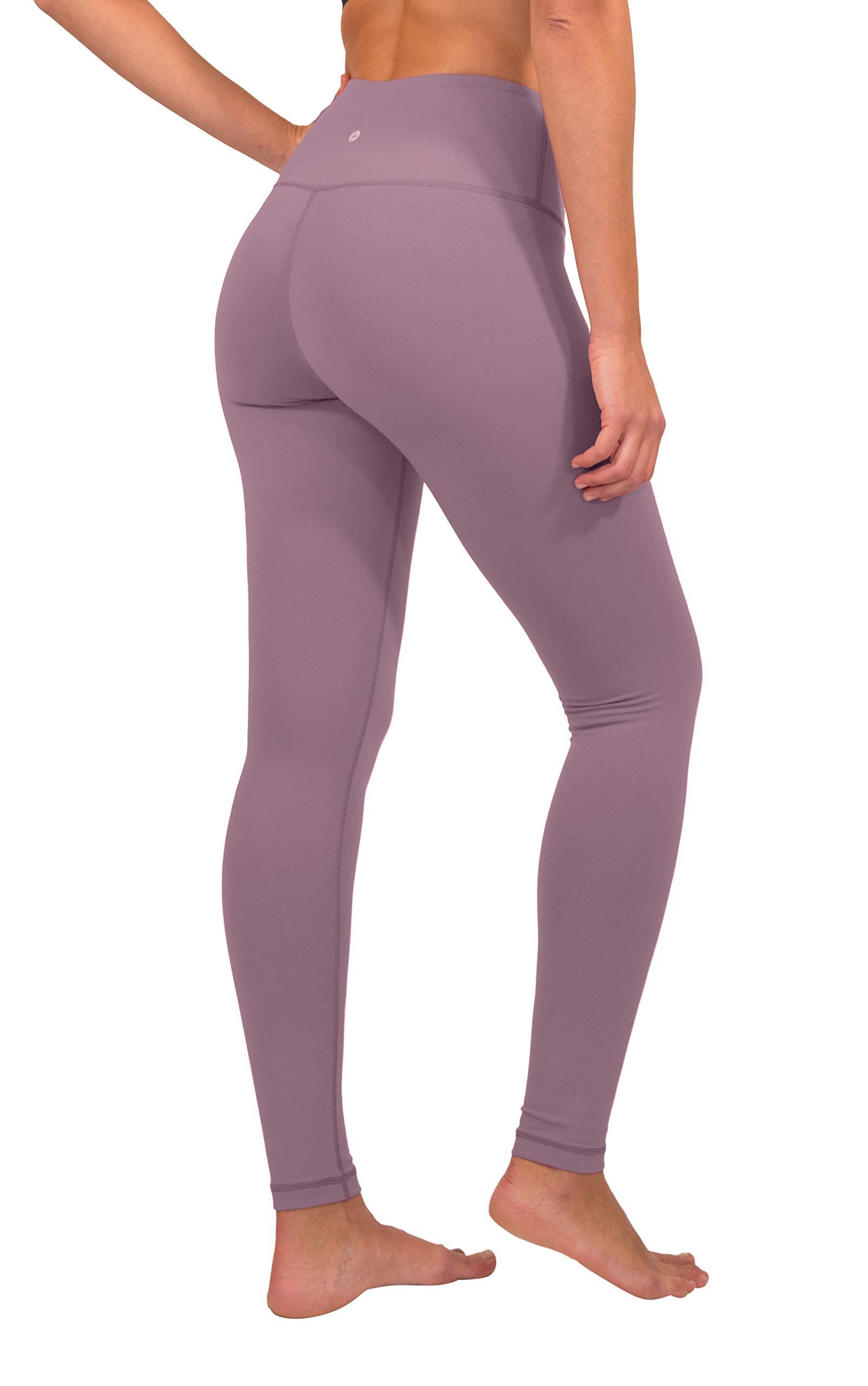 90 Degree By Reflex - High Waist Power Flex Legging – Tummy Control - Chocolate Plum - Small by 90 Degree By Reflex (Image #3)