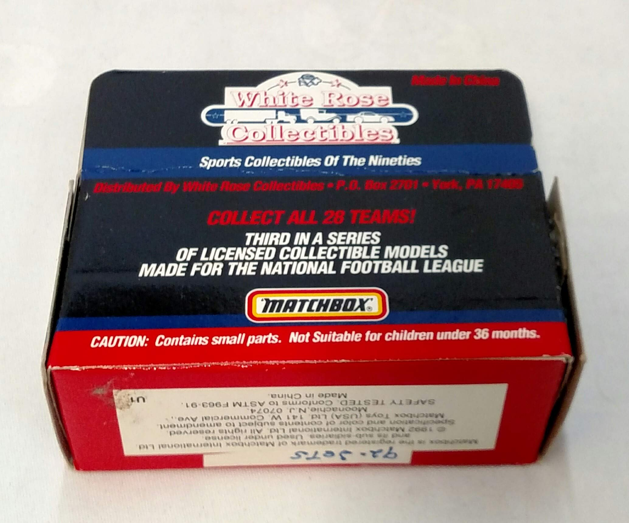 New York Jets 1992 Limited Edition Matchbox Die Cast Collectible