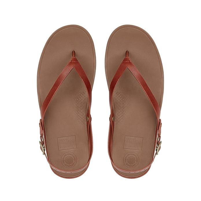 Mujer Punta Leather Sandals Con Sandalias Fitflop Flip Abierta Para x8Xw1q5