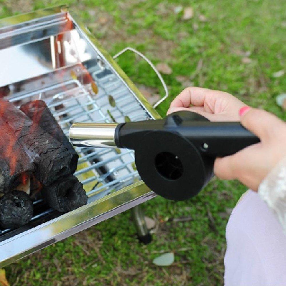 amazon com kasstino hand crank bbq blower fireplace camping
