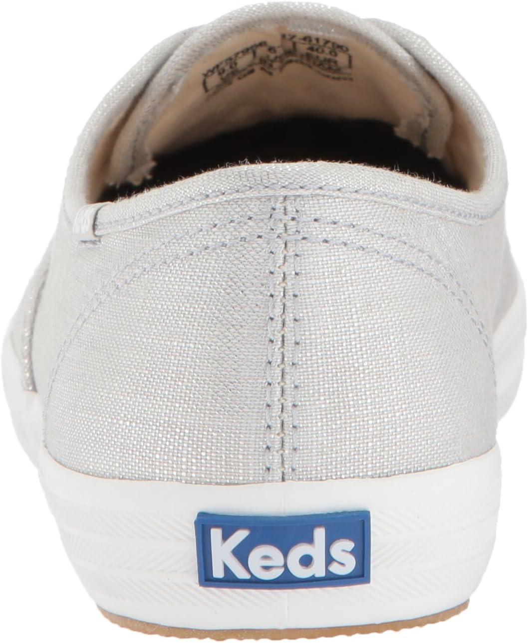 Keds dames Ch Metallic Linnen Rose Gold Sneakers ZILVER