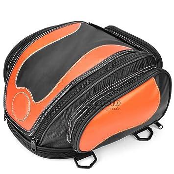 BJ Global alta calidad motocicleta sillín Bolsa Depósito de aceite cola casco bolsas de sillín herramienta