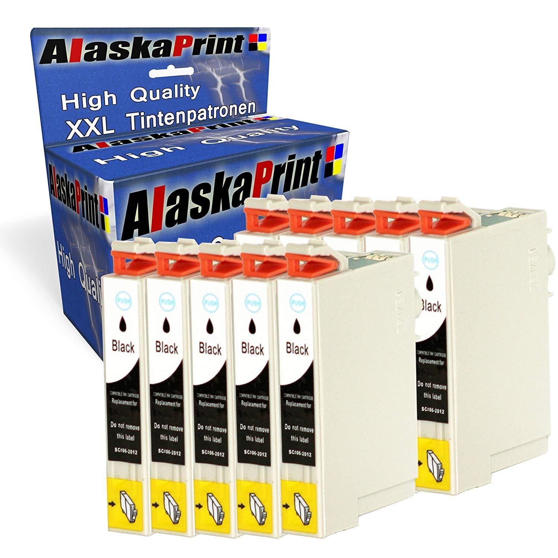 Alaskaprint 10 Cartucho Reemplazo para Epson T0711 Negro con Epson ...