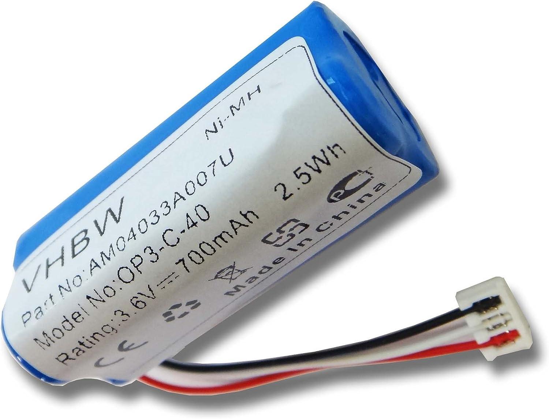 BATERÍA NI-MH 700mAh 3.6V compatible con máquina para cortar pelo ...