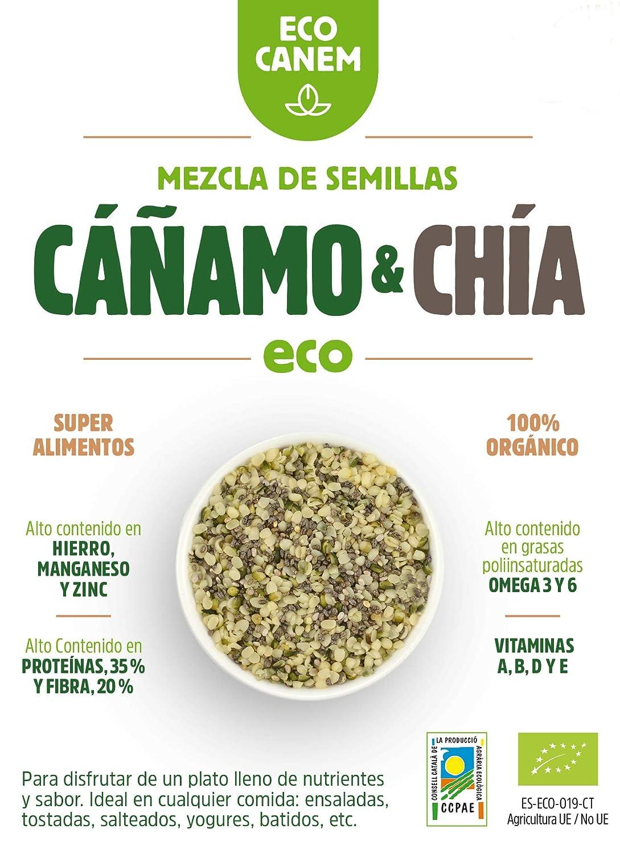 Semillas peladas de cáñamo con chía ECO. 100% Vegano. Really ...