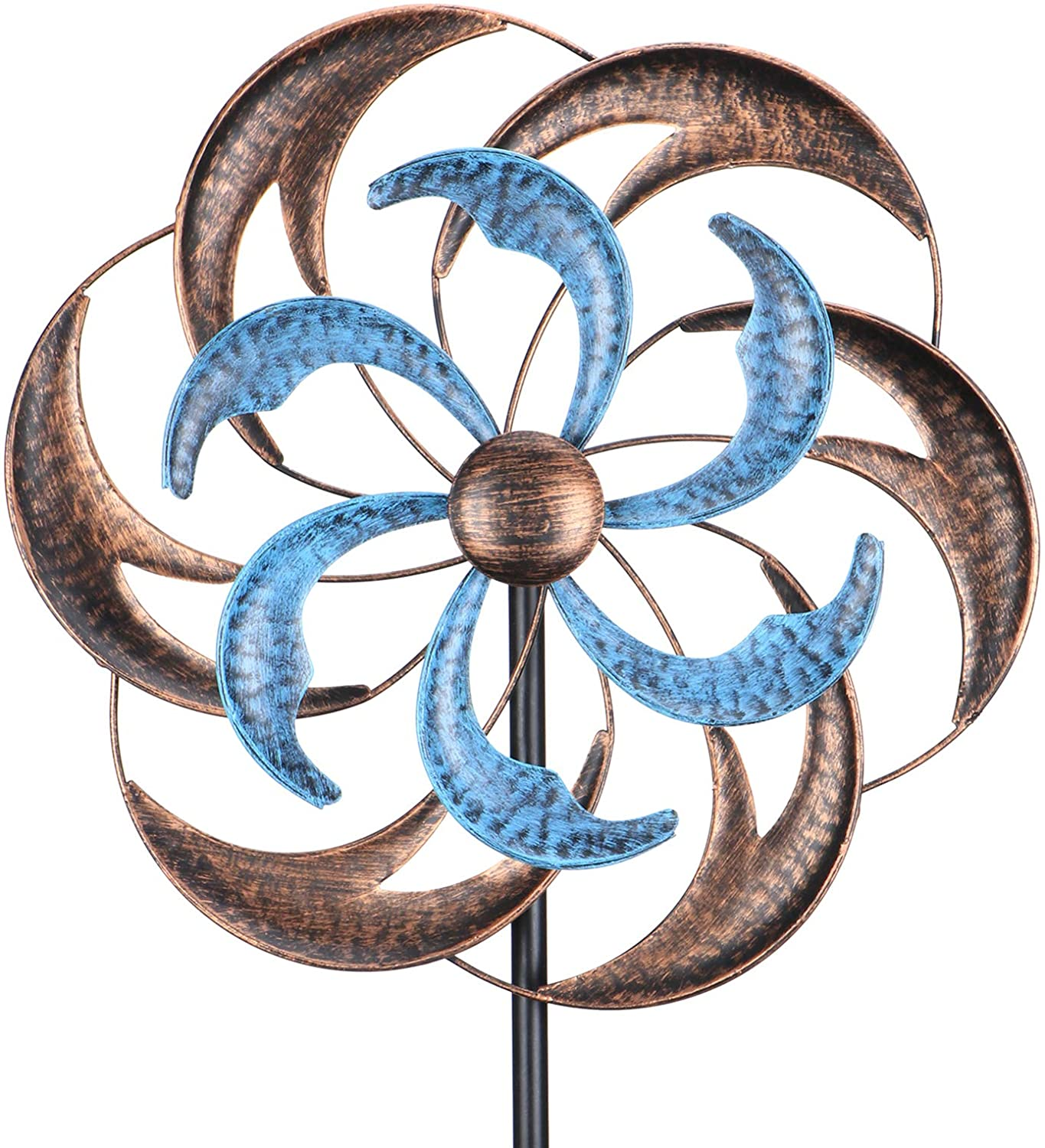 Wind Spinner, Premium Kinetic Wind Sculpture Metal Windmill for Outdoor Yard Patio Lawn & Garden