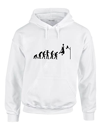 Evolution of Basketball, Sports Jordan inspiré Imprimé Sweat à capuche -  blanc noir S 6c7812596a8b