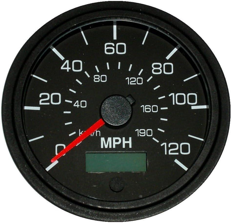 "GPS Speedometer 3-3//8/""//86mm,140 MPH,LED light,black//chrome,043-SP-BC//GPS"