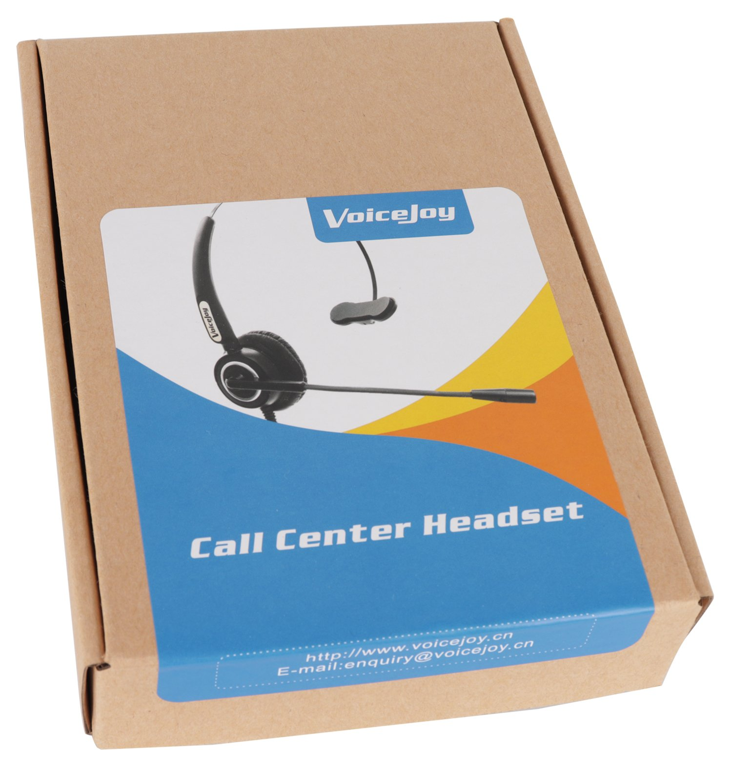 VoiceJoy Call Center Noise Cancelling Corded Monaural Headset Headphone with Mic Microphone with USB Plug For Computer and Laptop, Volume Control and Mute Switch