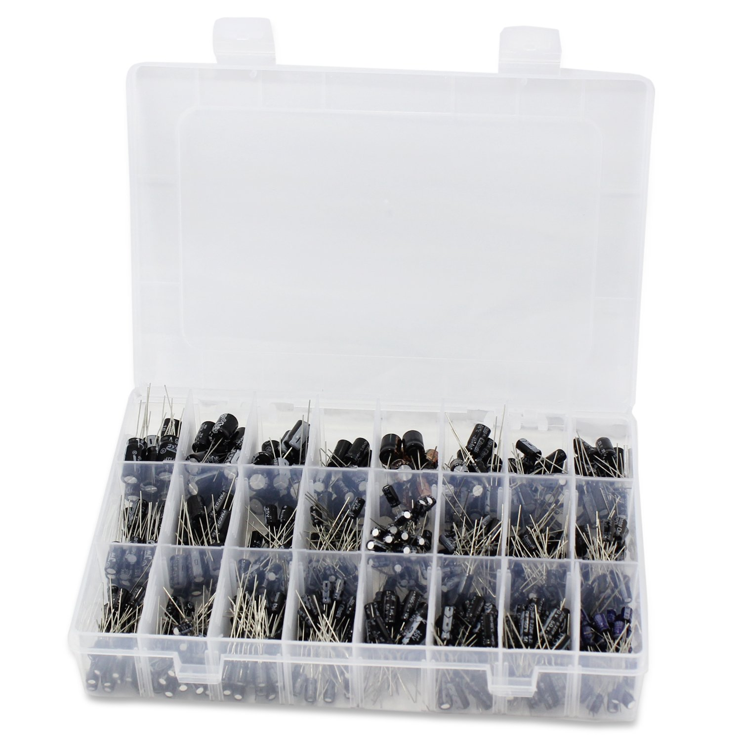 Polyester Film Capacitor 24value 660pcs Aussel Electrolytic Capacitors Assortment Box Rang