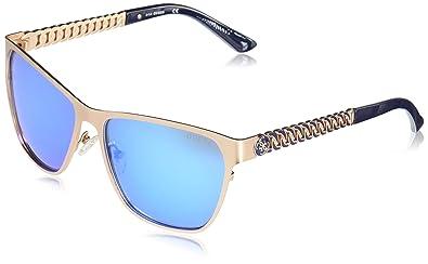 Amazon.com: GUESS - Gafas de sol cuadradas para mujer, metal ...