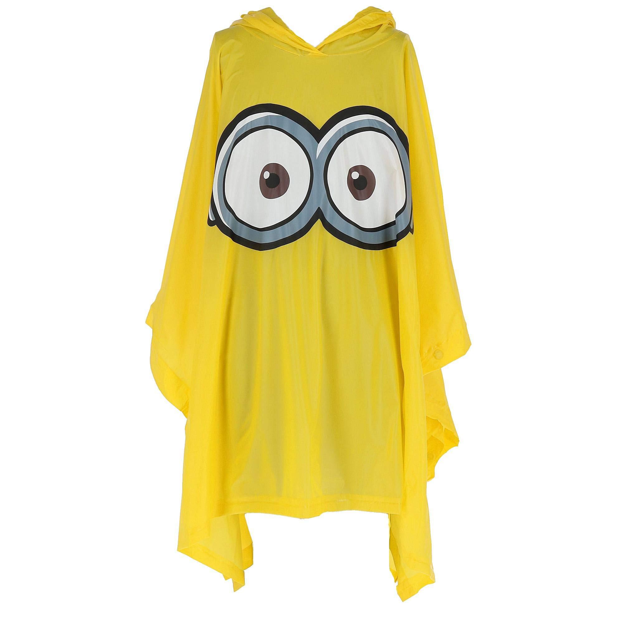 Illumination Entertainment Kid's Despicable Me Minion Rain Poncho, Yellow