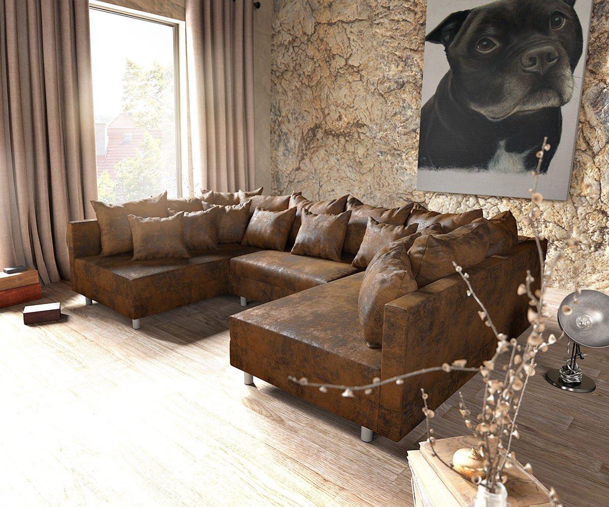Couch Clovis Braun Antik Optik Wohnlandschaft Modulares Sofa Jetzt