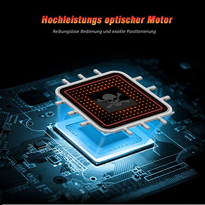 VicTsing Gaming Maus, PC Maus 6 programmierbare Tasten, Hohe Präzision Gamer Maus, Wired Laptop Maus, Bunte LED Hintergrundbeleuchtung, Maus USB, ...