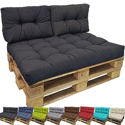 PROHEIM Outdoor Palettenkissen Lounge Palettensofa Indoor/Outdoor schmutz- und Wasserabweisende Palettenauflage Palettenpolst