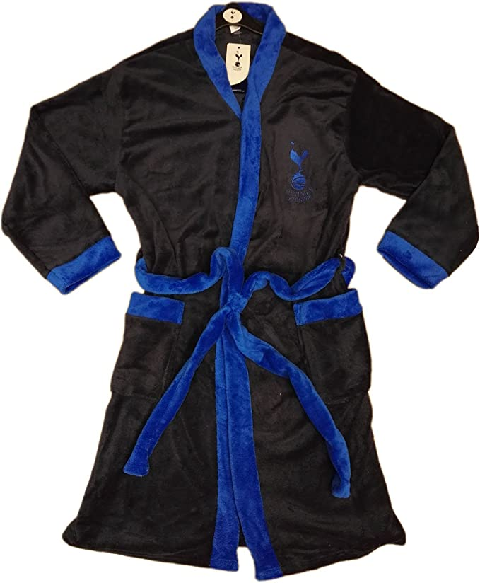 Mens Official Tottenham Hotspur THFC Spurs Dressing Gown Hooded Bathrobe Size M