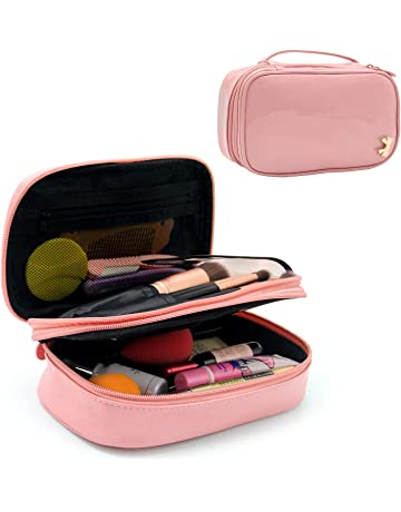 12e11d0133 Makeup Bag Small Travel Cosmetic Bag for Women Girls Makeup Brushes Bag  Portable 2 Layer Cosmetic