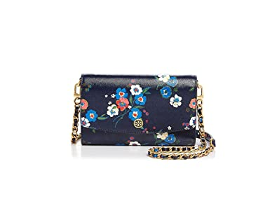 c99c4aa87d2 Image Unavailable. Image not available for. Color  Tory Burch Parker Floral  Printed Leather Chain Crossbody Wallet ...
