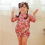 PAUBOLI Baby Japanese Kimono Robe Organic Cotton