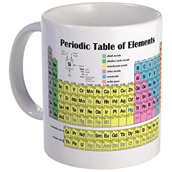 Amazon cafepress periodic table of elements mug unique cafepress periodic table of elements mug unique coffee mug coffee cup urtaz Gallery