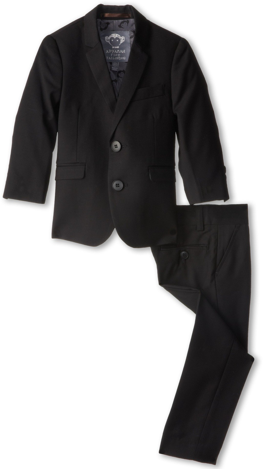 Appaman Kids  Baby Boy's Two Piece Lined Classic Mod Suit (Toddler/Little Kids/Big Kids) Black Suit