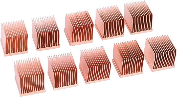 Alphacool 17427 GPU RAM Copper Heatsinks 14x14mm - 10pcs Air Cooling Passive Coolers