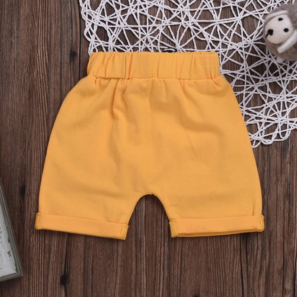Baby Girls Boys Shorts Pocket Clothes Set 0-4T Toddler Kids Newborn Baby Summer Briefs Short Pants Soft Trousers