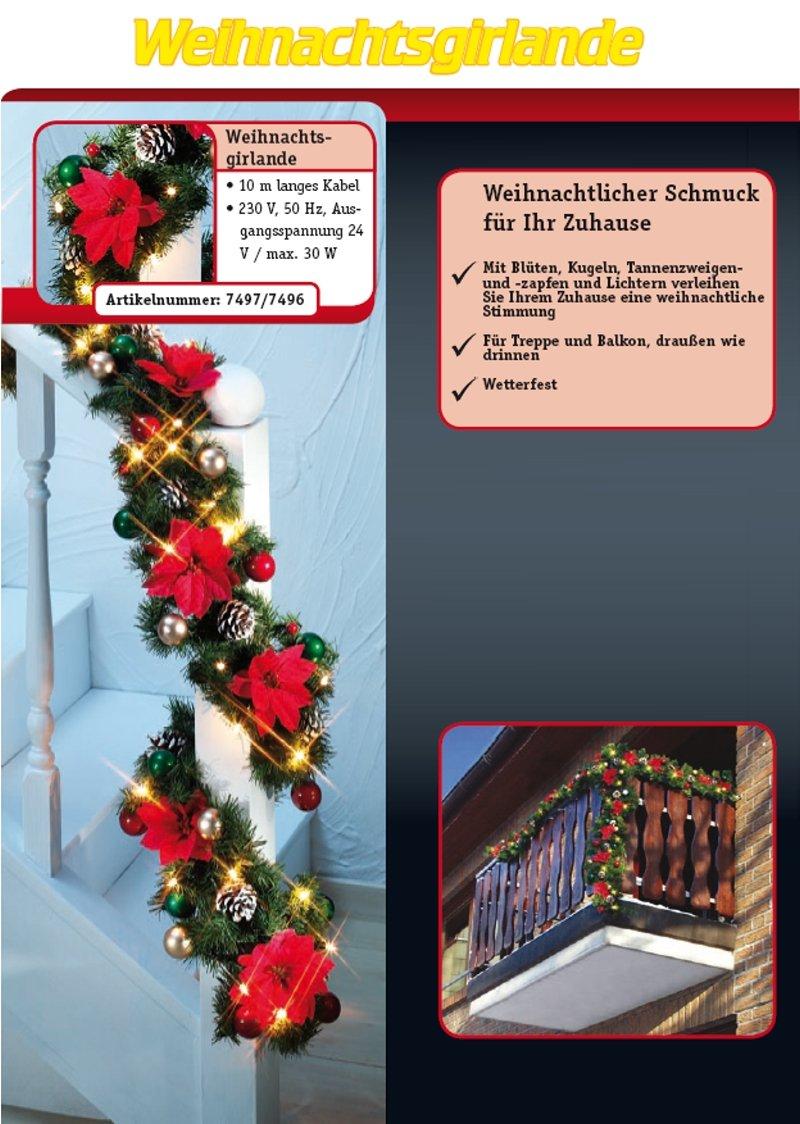 Amazon.de: Weihnachtsgirlande Girlande 6m x 25cm innen und außen