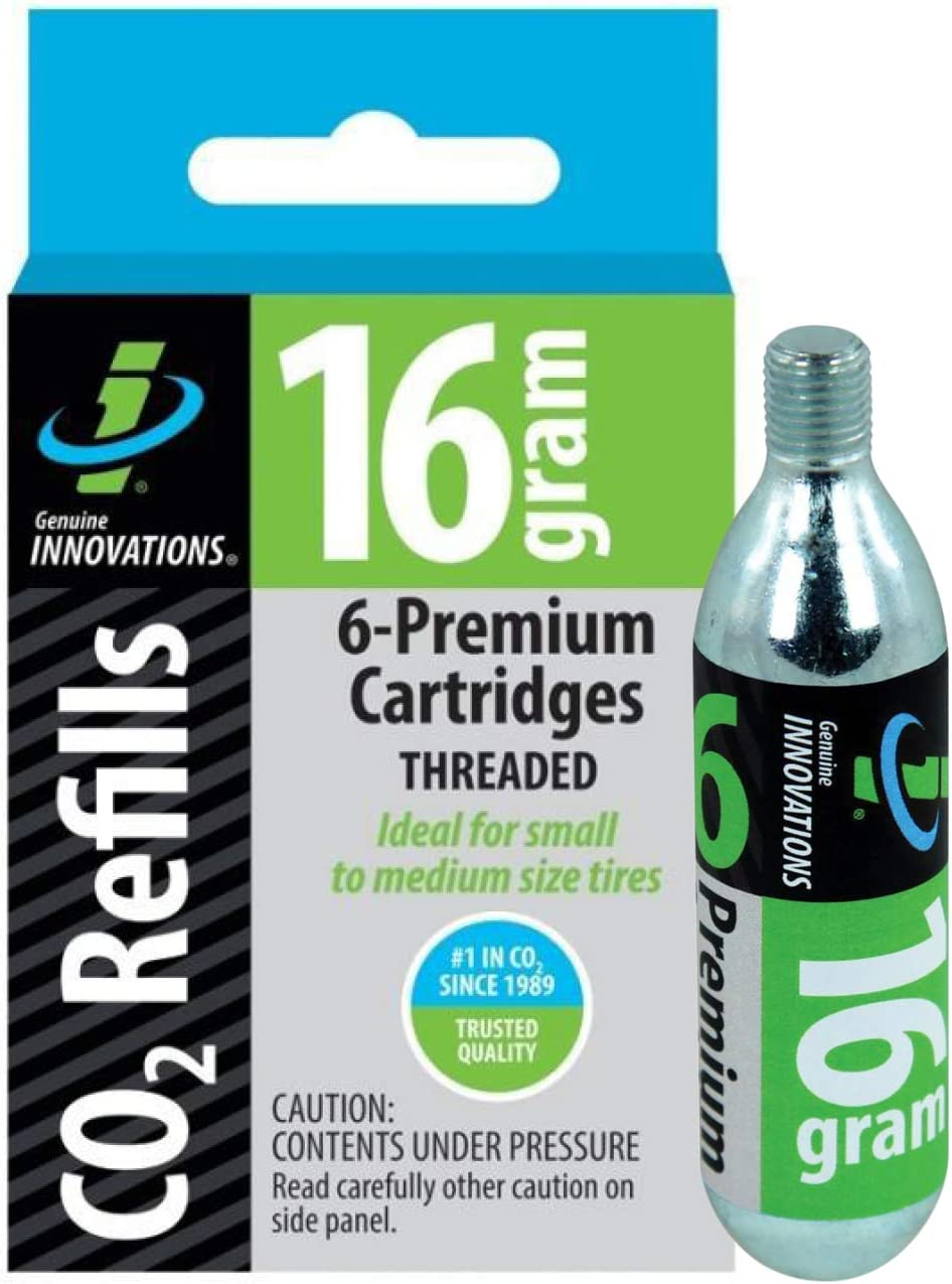 Genuine Innovations CO2 Cartridges Threaded 16 gramsMulti Pack Quantities