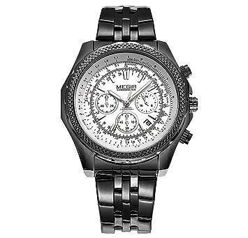 Relojes Hombres De Lujo De Marca Reloj Hombre Full De Acero Inoxidable Resistente Al Agua Relogio Masculino Multifunctiona Reloj Hombres , 2: Amazon.es: ...