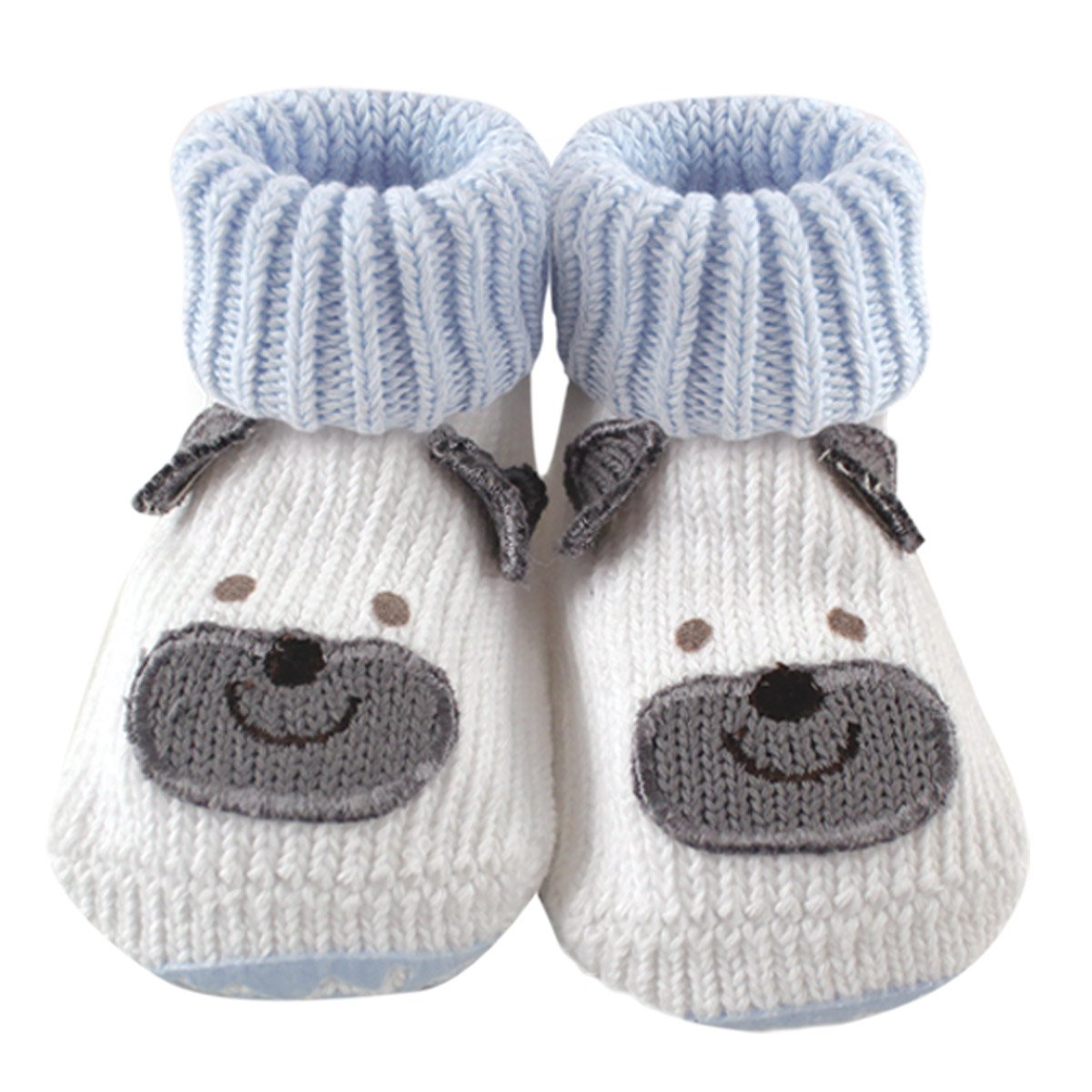 Luvable Friends Knitted Non-Skid Baby Slippers