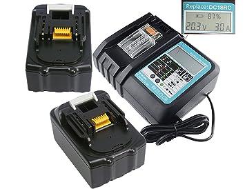 YASI MFG® 2 pieza Reemplazar Makita BL1850 18V 5000 mAh Batería ...