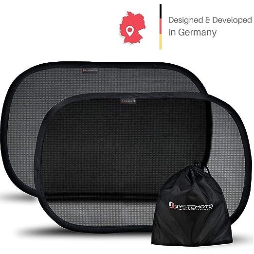 Systemoto Sonnenschutz Auto Baby mit Zertifiziertem UV Schutz Selbst 2er Set