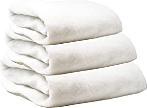Christmas Snow Blanket Cover Set of 3 Rolls 3 Foot X 8 Foot Fluffy Thick White Soft Artificial Cotton Snow Blankets Sheet Holiday Decoration for Christmas Tree Skirt Mantle Village Winter Display