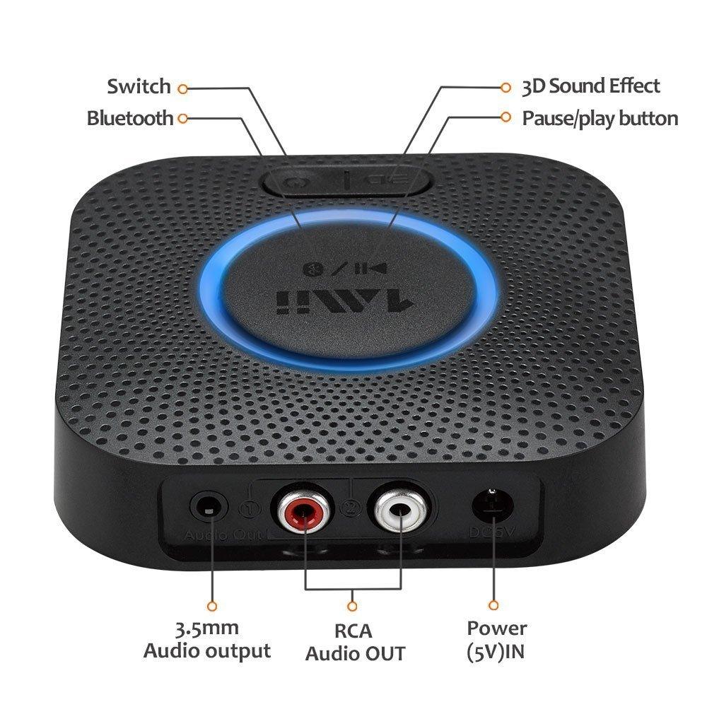 Bluetooth Receiver, Wireless Audio Hi-Fi Adapter, 1 MII