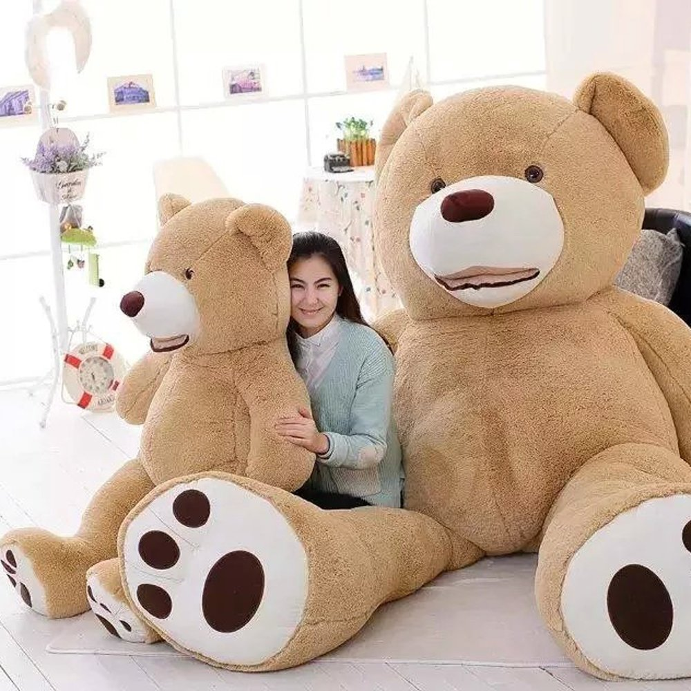 Amazon.com: 39 Inch Stuffed Teddy Bears With Big Footprints Plush Toys Light Brown: Toys & Games